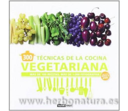 300 Técnicas de la Cocina Vegetariana Libro,mas de 100 recetas explicandolas paso a paso OCEANO AMBAR