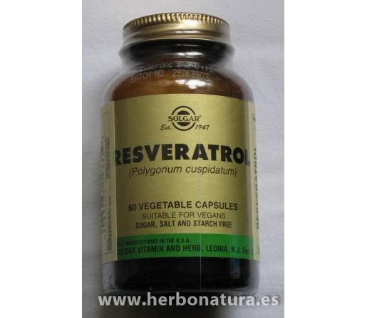 Resveratrol 100mg. por cápsula, 60 cápsulas vegetales SOLGAR