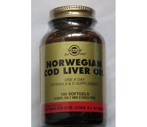 Aceite de hígado de bacalao Noruego 100 perlas SOLGAR