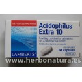 Acidophilus Extra 10 (10000 millones de bacterias amigas) 60 cápsulas LAMBERTS