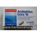 Acidophilus Extra 10 (10000 millones de bacterias amigas) 60 cápsulas LAMBERTS en Herbonatura.es