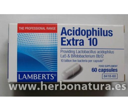 Acidophilus Extra 10 (10000 millones de bacterias amigas) 30 cápsulas LAMBERTS