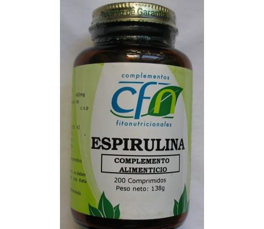 Espirulina 200 comprimidos. CFN