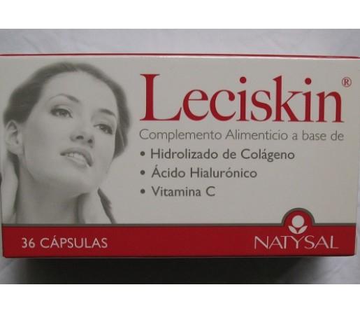 Leciskin colágeno hidrolizado, ácido hialurónico 36 cápsulas. NATYSAL