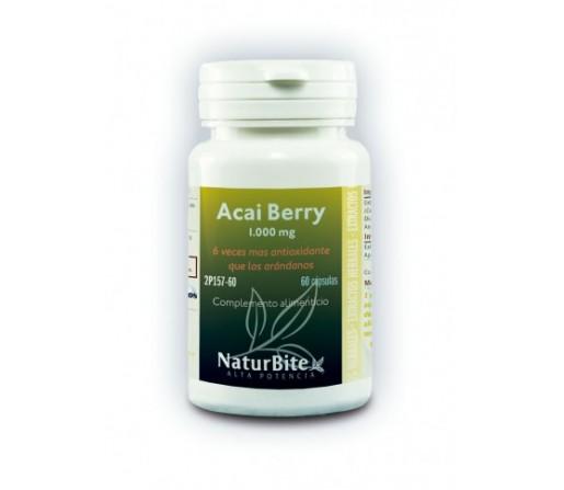 Acai Berry 1000mg. Antioxidante, 60 cápsulas NATURBITE