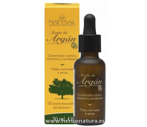 Aceite de Argan Antiarrugas 30ml. NATYSAL