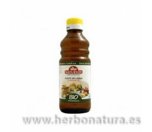 Aceite de Linaza, Lino Primera Presion en Frío Biológico 250ml. NATURSOY