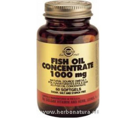 Aceite de Pescado concentrado 1000 mg 60 Cápsulas blandas SOLGAR