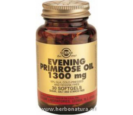 Aceite de Prímula de rosa 1300 mg 30 Cápsulas blandas SOLGAR