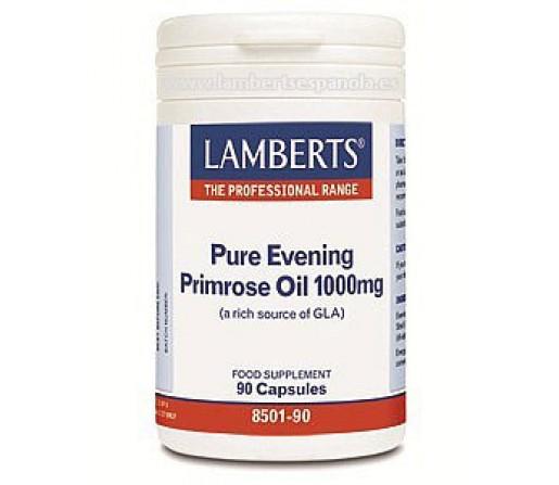 Aceite de Prímula Puro 1000mg. (Fuente rica en GLA) 90 cápsulas LAMBERTS