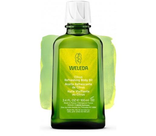 Aceite Refrescante Corporal de Citrus, activa y estimula la piel 100ml. WELEDA