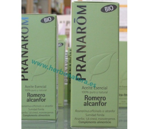 Aceite Esencial Romero Alcanfor Biológico (Rosmarinus officinalis QT Alcanfor) 10ml. PRANAROM