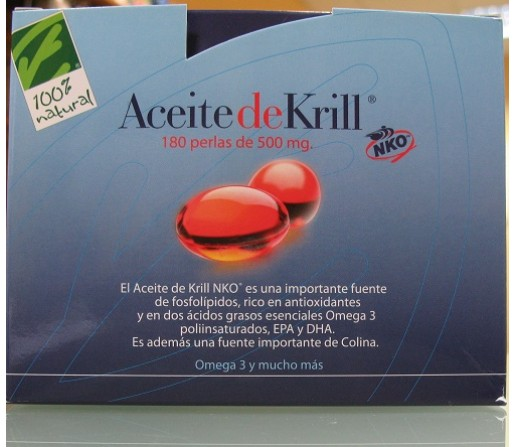 Aceite de Krill NKO 120 perlas de 500mg. 100% NATURAL