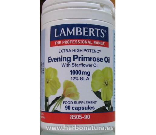 Aceite de Prímula Extra Alta Potencia con Borraja 90 cápsulas LAMBERTS