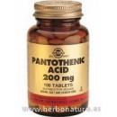 Ácido Pantoténico 200 mg (Vitamina B5) 100 Comprimidos en Herbonatura.es