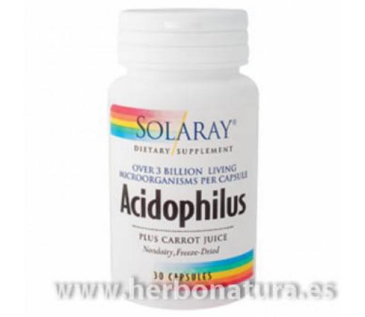 Acidophilus Plus 3 Billion Probiótico 30 cápsulas SOLARAY