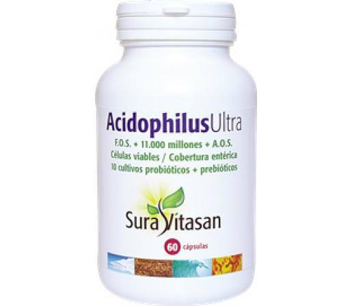 Acidophilus Ultra 11 cepas 120 cápsulas SURA VITASAN