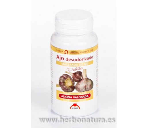 Ajo Aceite Desodorizado Alicina Valorada 100 perlas INTERSA
