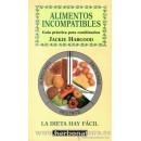 Alimentos Incompatibles, Guía práctica para combinarlos Libro, Jackie Habgood EDAF en Herbonatura.es