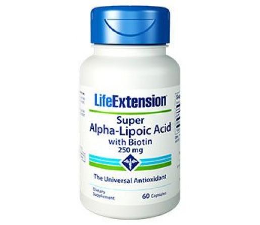 Acido Alpha Lipoic con Biotin, Lipoico, Biotina 60 cápsulas LIFEEXTENSION