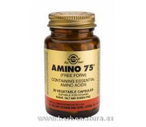 Amino 75™ Aminoácidos esenciales 30 Cápsulas vegetales SOLGAR