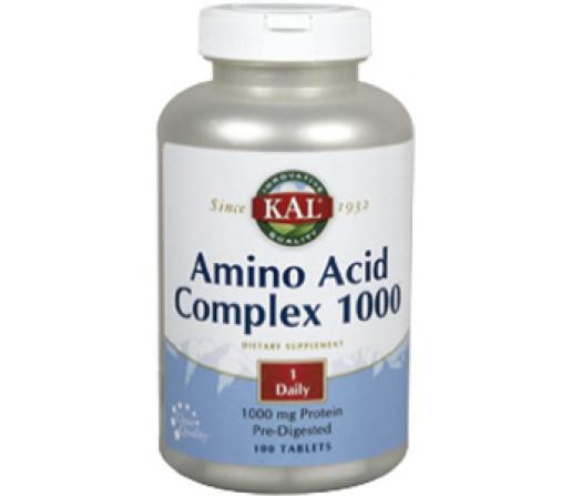 Amino Acid Complex 1000 Complejo de Aminoácidos 100 comprimidos KAL