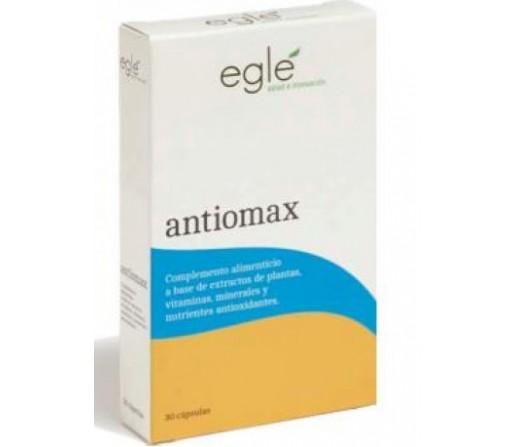 Antiomax, Antioxidante, Zeaxantina, Bioflavonoides, Mirtilo, Q10, Vit D... 30 cápsulas EGLE