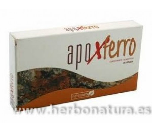 Apoxferro Apolactoferrina, Hierro... Defensas 30 cápsulas HERBOVITA