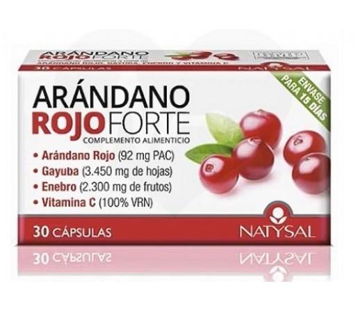 Arándano Rojo Forte 30 cápsulas NATYSAL