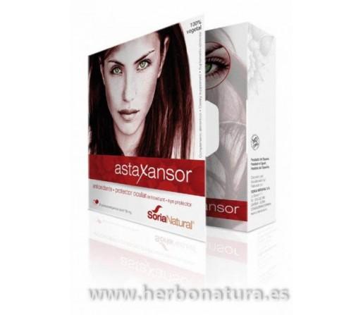 Astaxansor Astaxantina, Luteina, Zeaxantina... Antioxidante Ocular 30 perlas SORIA NATURAL