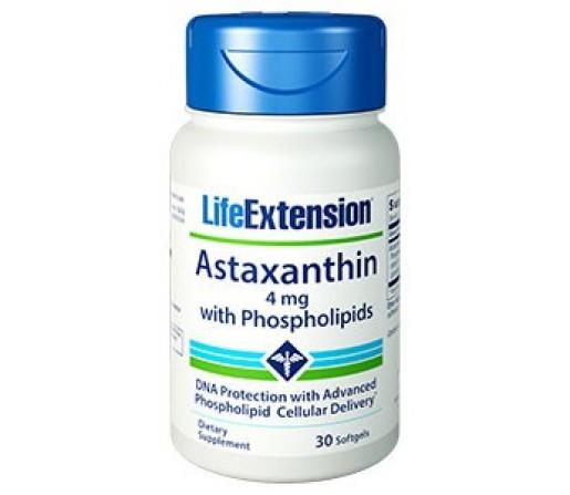 Astaxantina con Fosfolípidos 4 mg (Astaxanthin with phosholiids) 30 Perlas LIFEEXTENSION