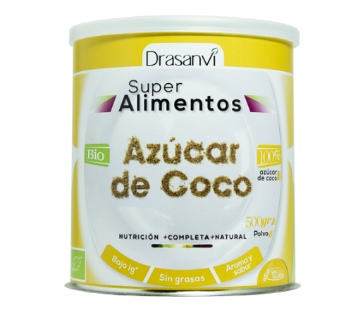 Azúcar de Coco Polvo Ecológico Superalimento 500gr. DRASANVI