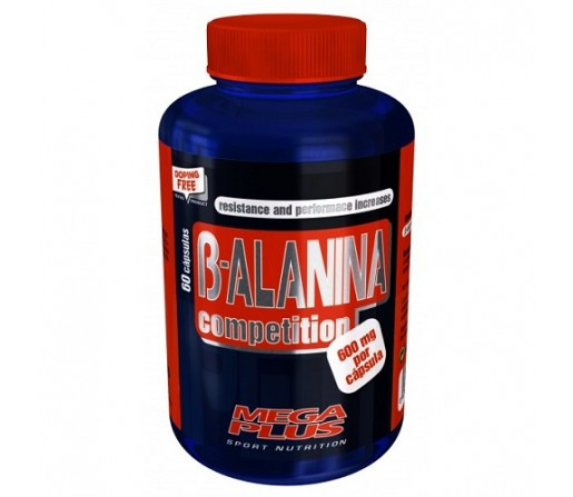 B- Alanina 600 mg. por cápsula 60 cápsulas MEGA PLUS