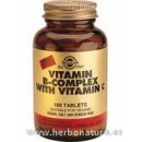 B-Complex con Vitamina C 500mg. 250 Comprimidos SOLGAR en Herbonatura.es