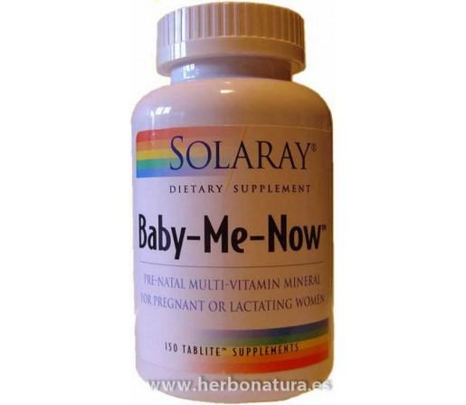 Baby Me Now multinutriente lactancia y embarazo 150 comprimidos SOLARAY