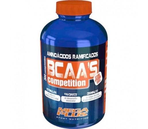BCAA. Competition Aminoácidos ramificados 300 comprimidos MEGA PLUS