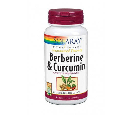 Berberine y Curcumin Berberina y Curcuma 60 cápsulas SOLARAY