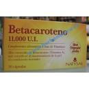 Beta Caroteno 11.000 U.I. Betacaroteno 30 perlas NATYSAL en Herbonatura.es