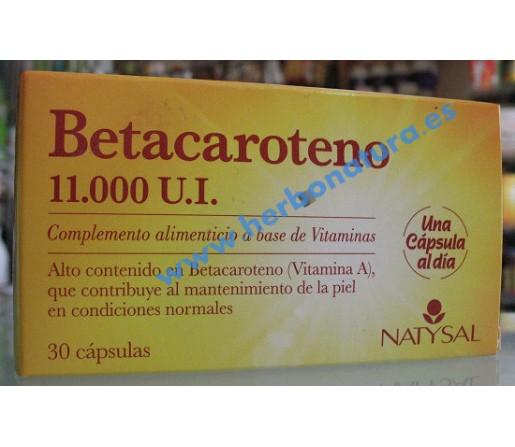 Beta Caroteno 11.000 U.I. Betacaroteno 30 perlas NATYSAL