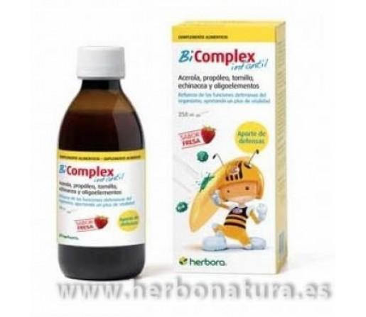 Bi Complex jarabe infantil propóleo, tomillo, equinacea ... Refuerza defensas 250ml. HERBORA