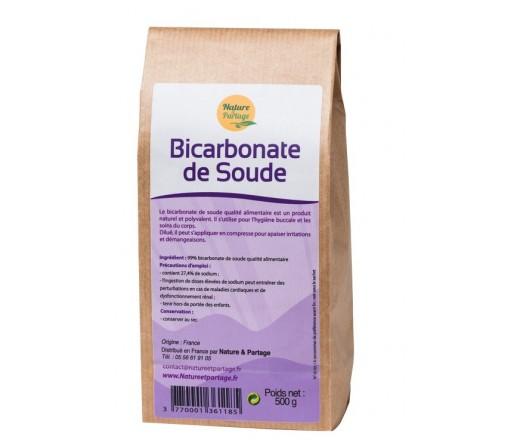 Bicarbonato de Sodio Calidad Alimentaria 500 gr. NATURE & PARTAGE