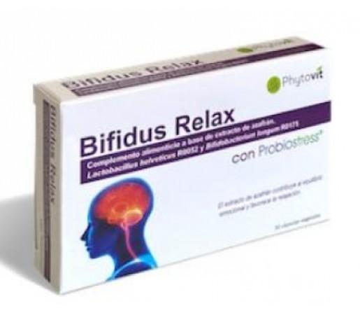 Bifidus Relax con Probiostress, Probioticos con Extracto de Azafrán 30 cápsulas PHYTOVIT