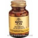 Biotina 300 μg 100 Comprimidos SOLGAR en Herbonatura.es