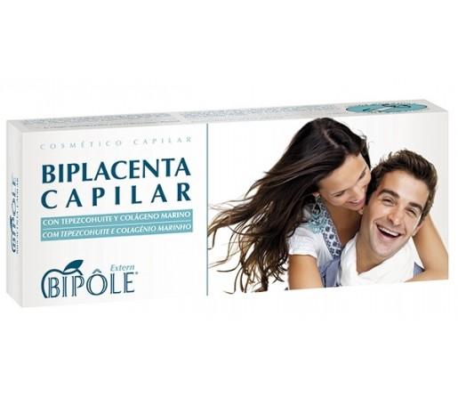 Biplacenta Capilar Vegetal, Placenta Bipole 20 ampollas INTERSA