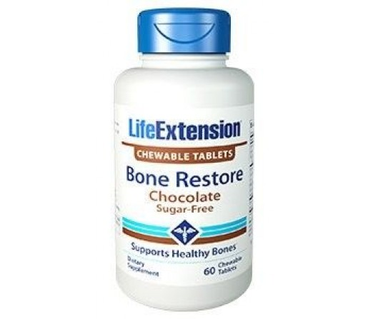 Bone Restore Chocolate Huesos, 60 comprimidos masticables LIFEEXTENSION