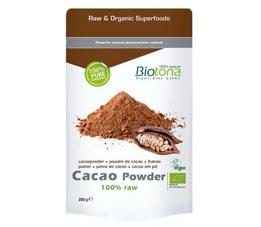 Cacao Powder, Polvo de Cacao Crudo, Ecológico 200gr. BIOTONA