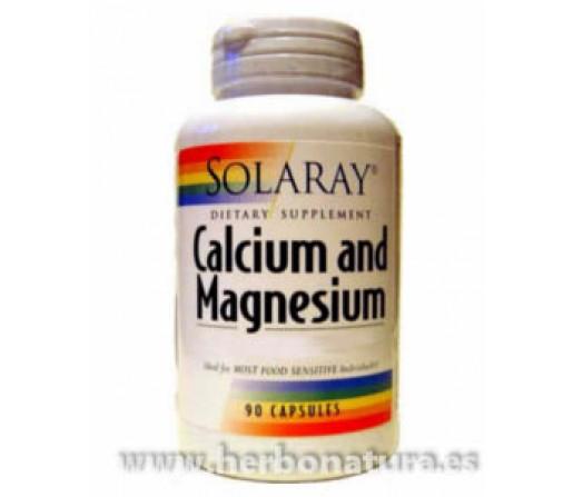 Calcio y Magnesio 90 cápsulas SOLARAY