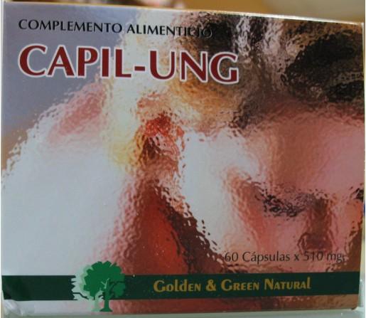 Capil-ung complemento para el cabello y uñas 60 cápsulas GOLDEN & GREEN