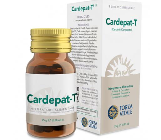 Cardepat T, Hepático Espagirico 25gr. 60 Comprimidos aproximadamente FORZA VITALE