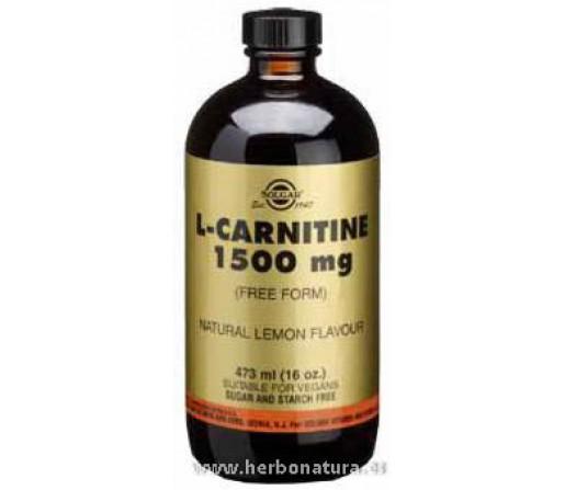 L-Carnitina Líquida 1500 mg 473ml. SOLGAR